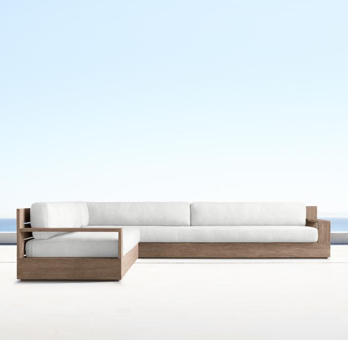 left arm return sofa 2 seat reclining leather marbella teak classic left-arm l-sectional