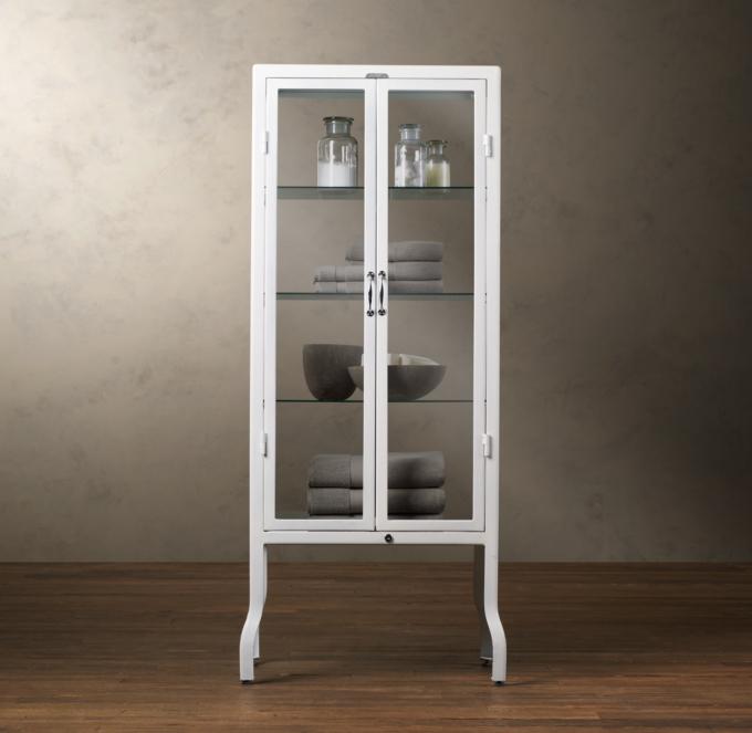 Pharmacy Large Bath Cabinet White