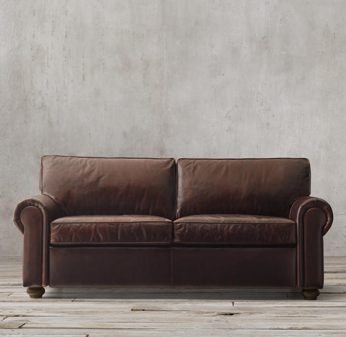 72 lancaster leather sofa deep seated original sofas classic luxe rh 3 sizes premium sleeper 5695 0 9495 regular