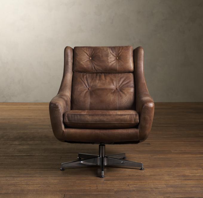 Restoration Hardware Leather Chair