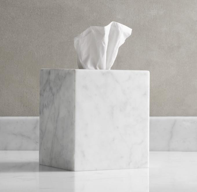Carrara Marble Tissue Cover
