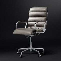 Modern Grey Leather Office Chair Animal Skin Chairs Seating Rh Oviedo Desk
