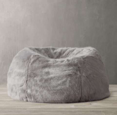 restoration hardware beanbag chair rolling mat for wood floors bean bags poufs pelts rh special holiday savings limited time only