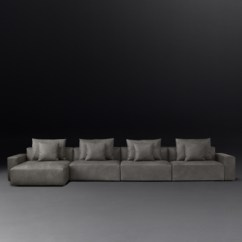 Leather Sectional Sofa Restoration Hardware Natural Sofas Klaus Rh Modular Left Arm Chaise