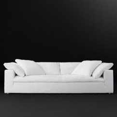 Cloud Track Arm Leather Two Seat Cushion Sofa French Antique Fabric Rh Modern 3 Depths 2 Fills 5 Lengths