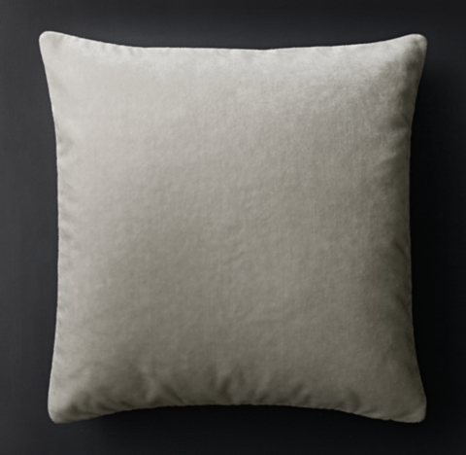 mohair velvet pillow cover square