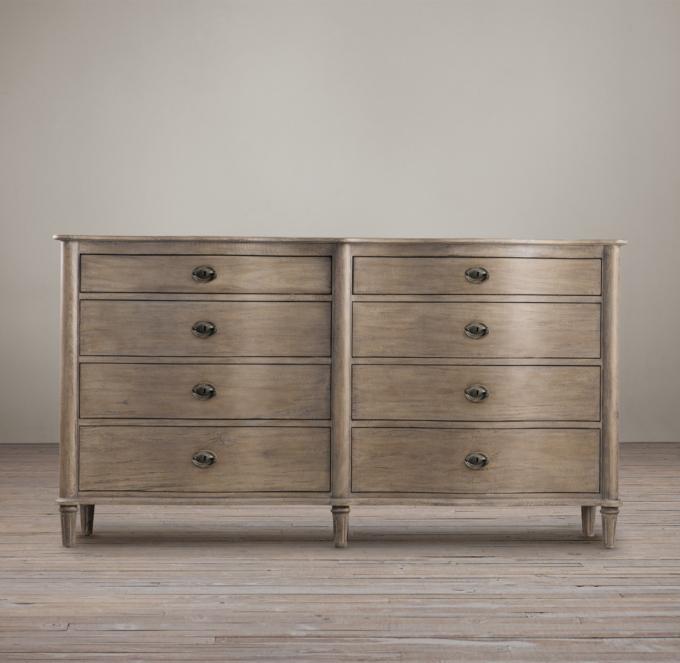 Empire Rosette 8Drawer Dresser