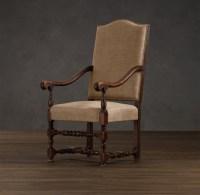 18th C. French Burlap Armchair