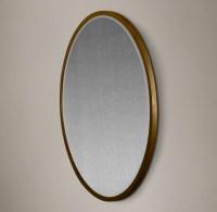 Bistro Antiqued Glass Round Mirror