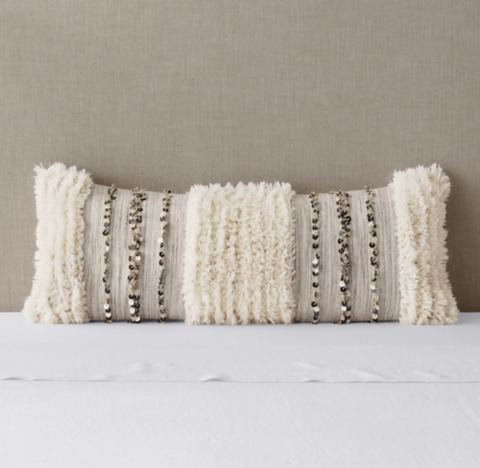 moroccan wedding striped pillow cover