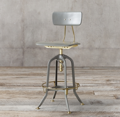 bar stool chair grey swing with stand outdoor counter stools rh 1940s vintage toledo