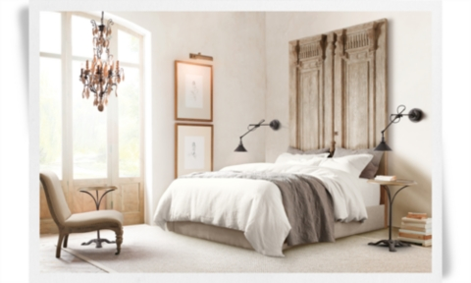 english arm sofa restoration hardware fresco durablend antique brown | rh