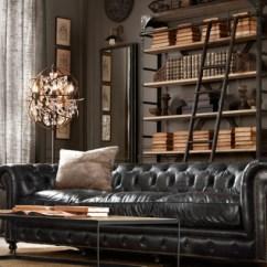 Kensington Leather Sofa Restoration Hardware Toddler Chair Australia Tattered Style: An Infatuation For Chesterfields