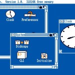 Workbench v1.0 for the Amiga 1000 released in 1985.