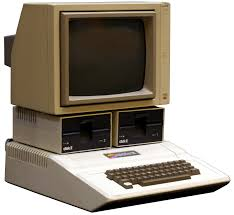 The Apple II computer with dual Disc II and a Apple Monitor II