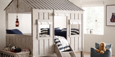 bean bag chairs for boys red wing back chair cabin bed | restoration hardware baby & child