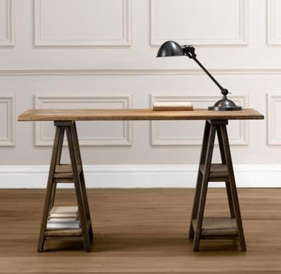 Sawhorse Trestle Desk