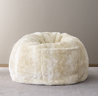 Luxe Faux Fur Bean Bag