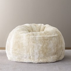 Faux Fur Chair Cover Dining Table Sets Uk Luxe Bean Bag