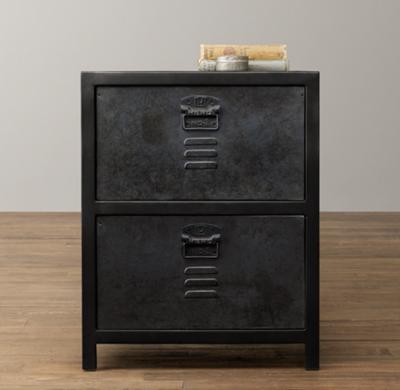 Vintage Locker 2Drawer Nightstand