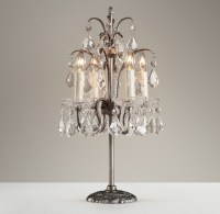 Candelabra Table Lamp - Pewter