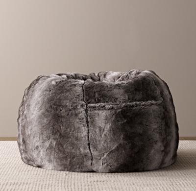 restoration hardware beanbag chair ergonomic pros bean bags poufs pillow loungers rh baby child luxe faux fur bag wolf