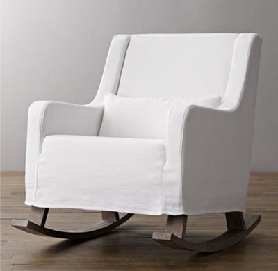 rocking chair slipcovers for nursery hanging dubizzle kennis slipcovered rocker