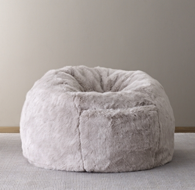 bing bag chairs ergonomic office chair reviews 2018 bean bags poufs pillow loungers rh baby child luxe faux fur grey fox