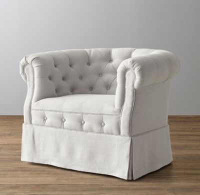 Tufted Tub Chair Swivel Glider