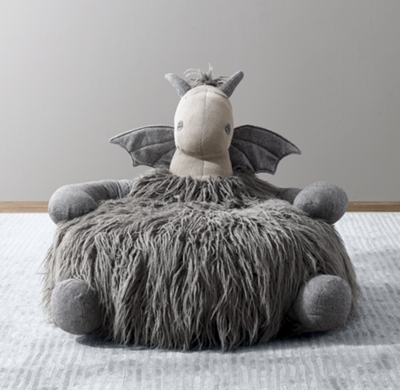 stuffed animal chair best for sex plush toys rockers chairs rh baby child wooly dragon