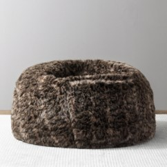 Where To Buy Bean Bag Chairs Bar Height Table And Outdoor Bags Rh Baby Child Luxe Faux Fur Bobcat