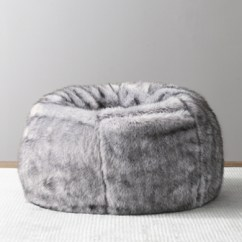 Bean Bag Chairs Marcel Breuer Bags Rh Baby Child Luxe Faux Fur Grey Wolf