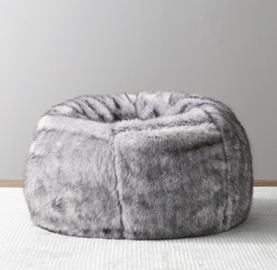 bing bag chairs your zone flip chair instructions bean bags poufs pillow loungers rh baby child luxe faux fur grey wolf
