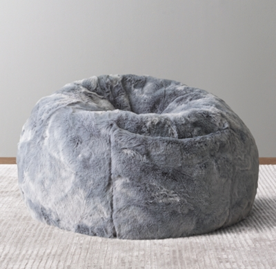 where to buy bean bag chairs hanging chair nepal bags rh baby child luxe faux fur slate blue
