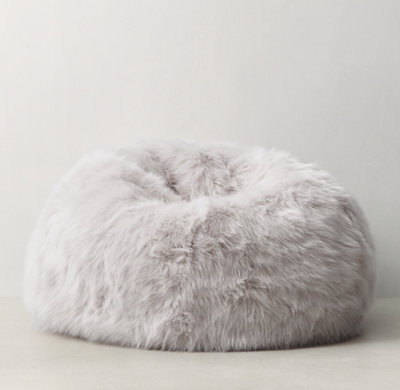 bean bag chairs canada for kitchen table kashmir faux fur - grey