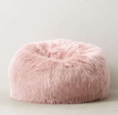 Kashmir Faux Fur Bean Bag