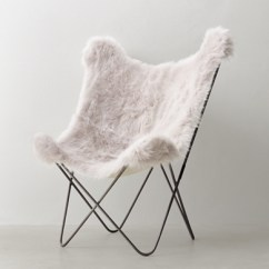 Grey Lounge Chair Tables And Chairs For Hotels Tye Kashmir Faux Fur Butterfly - Dark Steel