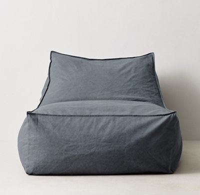 restoration hardware beanbag chair covers at christmas tree shop bean bags poufs rh teen distressed canvas bag lounger blue