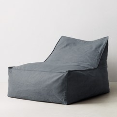 Restoration Hardware Beanbag Chair Renting Tables And Chairs For Wedding Distressed Canvas Bean Bag Lounger Blue Click To Zoom