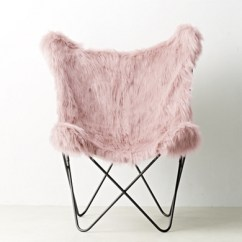 String Chair Seat Covers For Rent Vancouver Tye Dusty Rose Kashmir Faux Fur Butterfly - Dark Steel