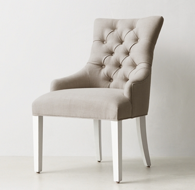 tufted desk chair video game accessories martine distressed white shown in sand belgian linen