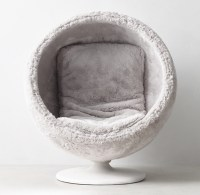 Orbit Arctic White Fox Luxe Faux Fur Chair
