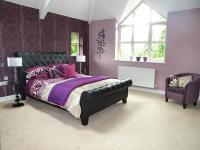 Beige Purple Master Bedroom Design Ideas, Photos ...