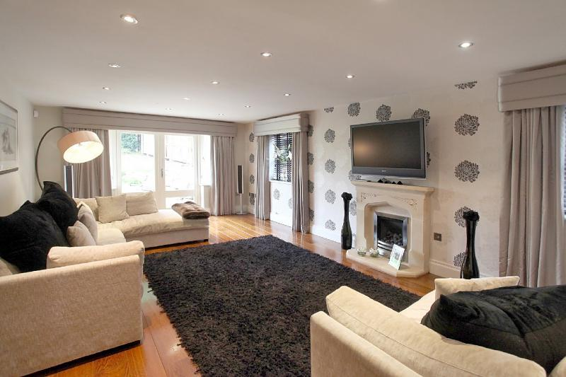 Photo Of Neutral Colours Stylish Beige Black Grey Living Room Lounge