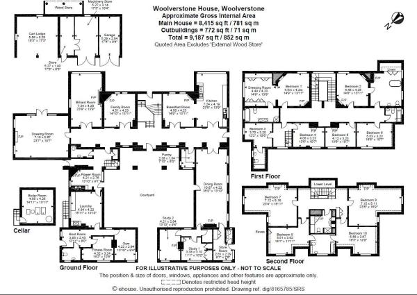 10 bedroom detached house for sale in Woolverstone
