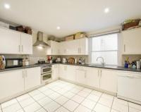 Beige Tiled Floor Kitchen Design Ideas, Photos