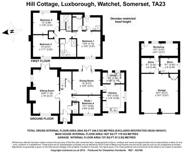 4 bedroom detached house for sale in Luxborough, Taunton