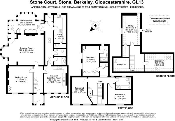 5 bedroom property for sale in Stone Court, GL13 9JY, GL13