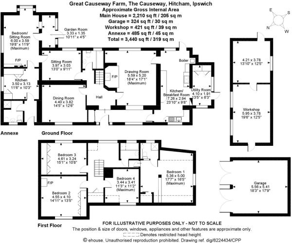 5 bedroom detached house for sale in The Causeway, Hitcham