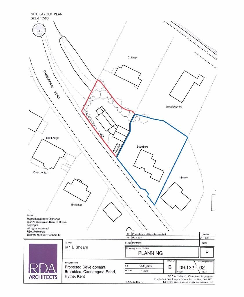 Plot for sale in Building Plot, Cannongate Road, Hythe